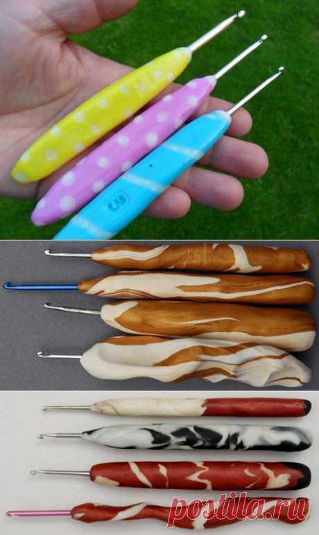 МК эргономичной ручки для крючка своими руками..
