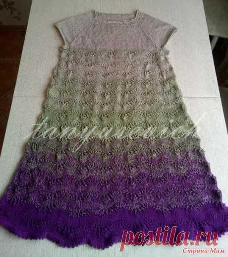 Платье Колибри - Вязание спицами - Страна Мам