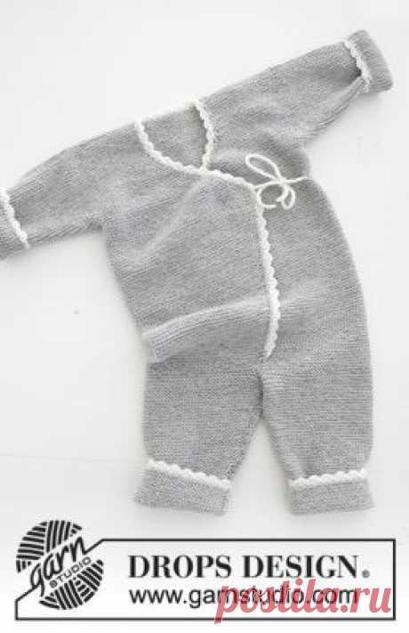 Комбинезон Время веселья Очаровательный комбинезон для малыша, связанный на спицах 3 мм из тонкой мериносовой шерсти. Вязание модели начинается от нижнего края, то...