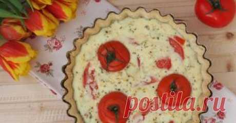 Киш (открытый пирог) с томатами и брынзой - пошаговый рецепт с фото. Киш - это открытый пирог, придуманный французами, на основе  несладкого рубленого слоеного теста со сливочно-яичной заливкой. Начинка может быть самой разной, вас ограничивает только ваша фантазия. Мои любимые - шпинат с сыром и творогом или томаты с брынзой.
