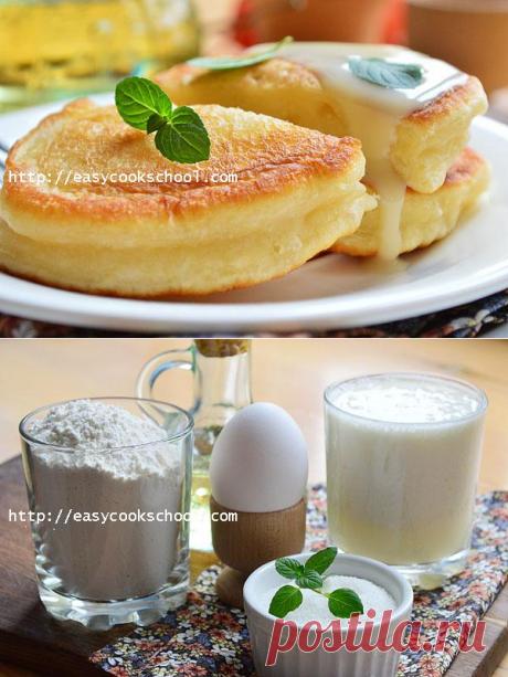 Оладьи на кефире пышные: рецепт с фото пошагово | Легкие рецепты