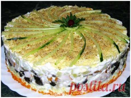 Слоеный салат с копченой курицей | ВКУСНО ПОЕДИМ!