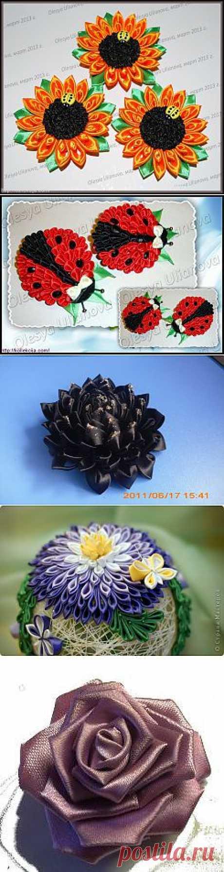 Канзаши.Цветы из капрона. | Записи в рубрике Канзаши.Цветы из капрона. | Дневник Сахарина