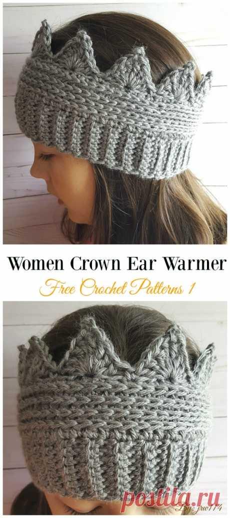 Trending Women Ear Warmer Free Crochet Patterns