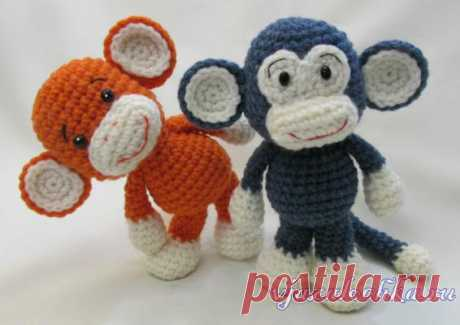 Игрушки крючком – обезьянки амигуруми
