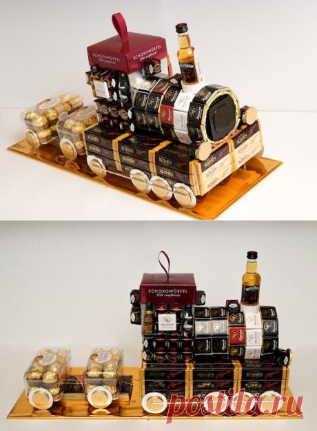 Как сделать паровоз из конфет.   LaChat