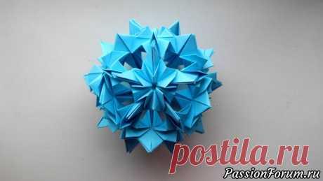 Шар Кусудама из бумаги - запись пользователя Getera (Александра Смирнова) в сообществе Работа с бумагой в категории Оригами Сделать красивый шар Кусудама - очень просто, используя технику оригами. Для изготовления потребуется бумага размером 8*8 см. (или любой иной размер и цвет).