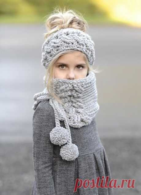 Вязаный снуд - популярная замена шарфу | Сундучок с подарками | Яндекс Дзен