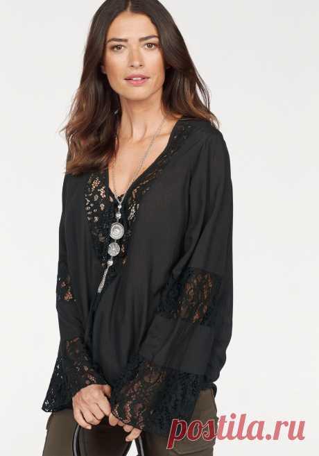 Блузка цвет: черный арт: 315513263 купить в Интернет магазине Quelle за 2599.00 руб - с доставкой по Москве и России