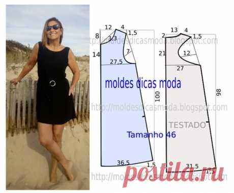 Выкройка платья , 50 размер. Увеличены проймы по спинке для более комфортной посадки. #выкройка@sew_room#платья #трикотаж #черный #просто