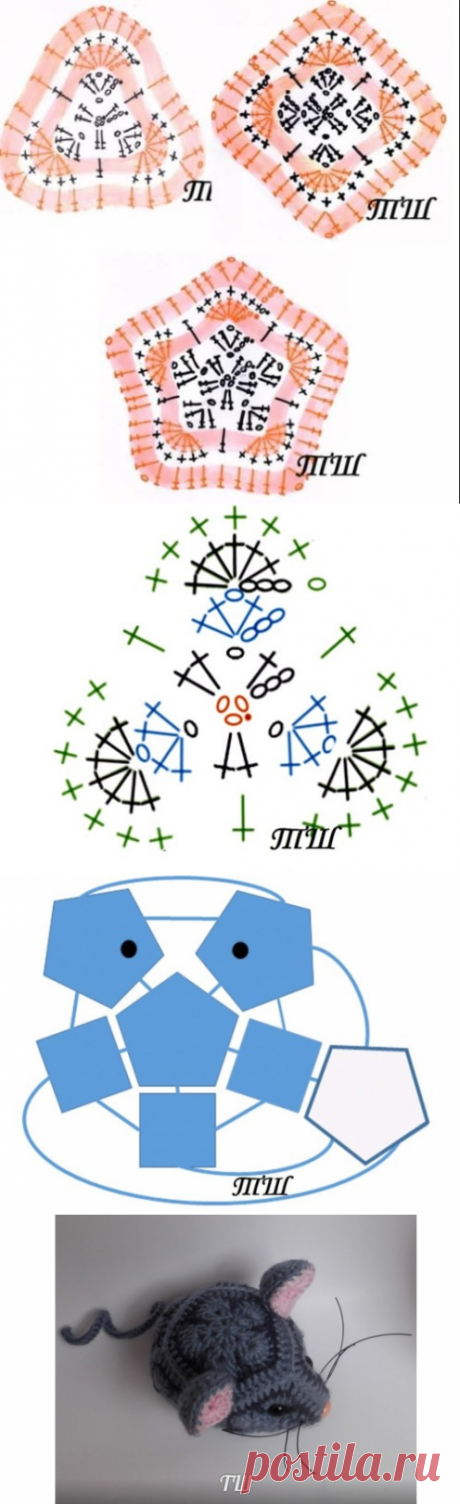 Символ НГ №2. Мышка из африканских мотивов
