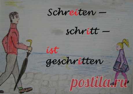 Учим неправильные немецкие глаголы-4 (смена корневых гласных -ei- / -i- / -i-)   SCHRITT FÜR SCHRITT   Яндекс Дзен