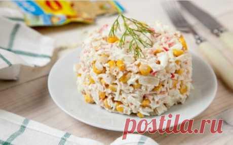 Салат с крабовыми палочками и кукурузой по самым вкусным классическим рецептам