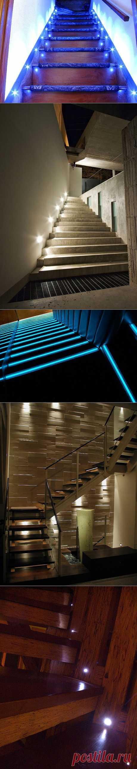 Светодиоды в освещении лестниц. - Мир отделки и ремонта