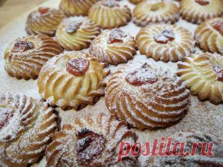 В этом хрупком печенье нет ни грамма разрыхлителя   Рецепты от Светланы Печенкиной   Яндекс Дзен