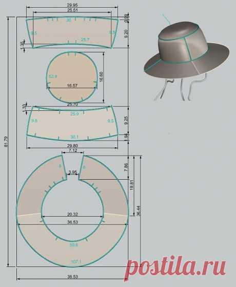 Выкройка шляпы — DIYIdeas