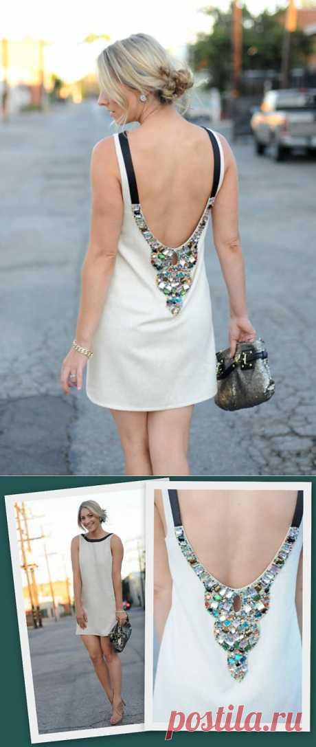 Платье с декором на спинке / Декор спины / Модный сайт о стильной переделке одежды и интерьера