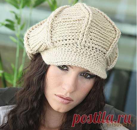 Женская кепка крючком (схема вязания с описанием)
