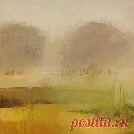 You stand back from this and you find that you have walked through the trees and to the edge of the horizon...the art of impressionism, to look and imagine the rest of the it yourself...  Irma Cerese - yellow abstract landscape
