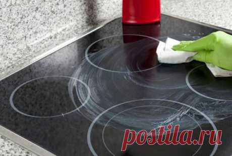 How to clear a glass-ceramic plate what means to wash