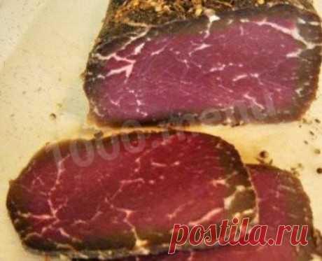 Бастурма из говядины по армянски домашняя рецепт с фото - 1000.menu