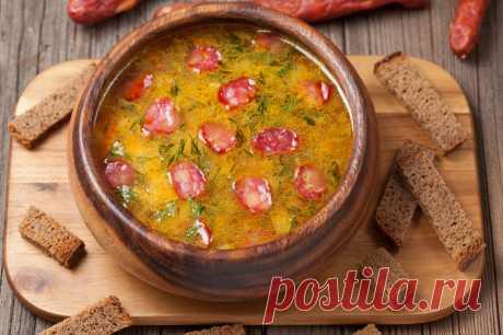 Суп, которым очень просто удивить гостей. Суп, съев который, можно сразу и выпить, и закусить.