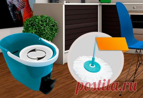 Набор для мытья полов Clean Pro 360 МОЙ И ВЫТИРАЙ НАСУХО ОДНИМ ДВИЖЕНИЕМ Универсальная швабра с отжимом Clean Pro 360 Clean Pro 360 – практичное устройство для легкой и эффективной уборки дома. Это - удобная и практичная швабра, в комплекте идёт уникальная насадка из микрофибры и ведро с педальным отжимом. Просто помещаем головку швабры в отдельный отсек и жмем педаль – насадка отжимается самостоятельно. Теперь хозяюшкам не придется пачкать руки в грязной воде или выкручивать половую тряпку.