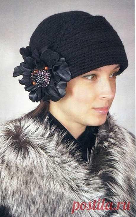 Зимняя шляпа крючком схема фото 121