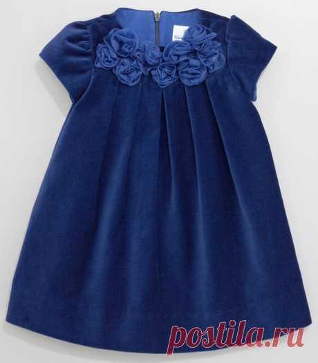 Платье из бархата для девочки от 1 до 14 лет (Шитье и крой) — Журнал Вдохновение Рукодельницы