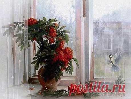 Рябина на окне (Стих) Обманчива, доступнаРябина на окне,Синицы поминутноСтучат в окошко мне.Но им ведь лгали стёкла,А я им не лгала,В своей избушке тёплойБукетик берегла.Синичке я подброшуСухой рябины гроздь -Останься, мой...