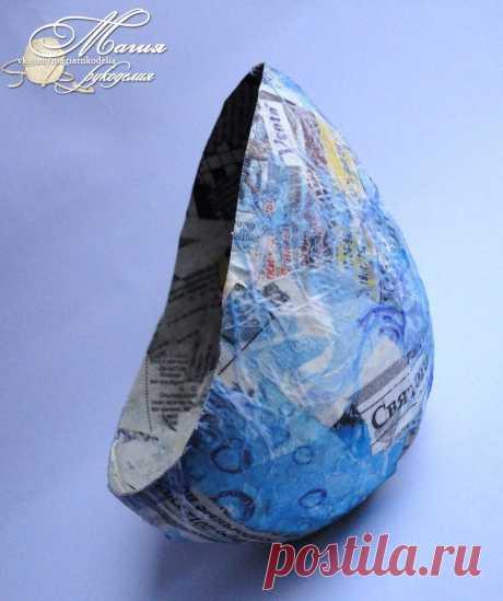 Подставка из папье маше для бисерного дерева Автор МК Ильницкая Лариса (Lizl)  Слова автора: Добрый день!  Хочу поделится с вами как я делала подставочку вот для такого бонсая. Для этого нам потребуются такие материалы для работы: клей ПВА, гипс, газета или белая бумага, металлическая закручивающаяся крышка от майонезной баночки, ножницы, маленький воздушный шарик, коричневая и бежевая акриловая краска, лак (у меня акриловый).  Сам процесс: 1.Надуваем воздушный шарик и зав...