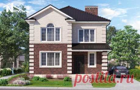 Проект двухэтажного дома 154 м2 9х12 метров - Новация 150-1
