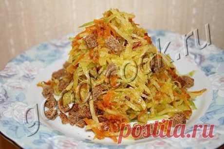 салат из редьки с овощной зажаркой и сухариками, рецепт приготовления