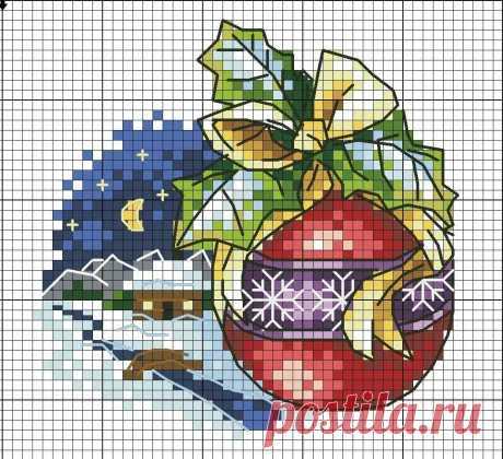 вышивка крестом схемы новогодний венок: 6 тыс изображений найдено в Яндекс.Картинках