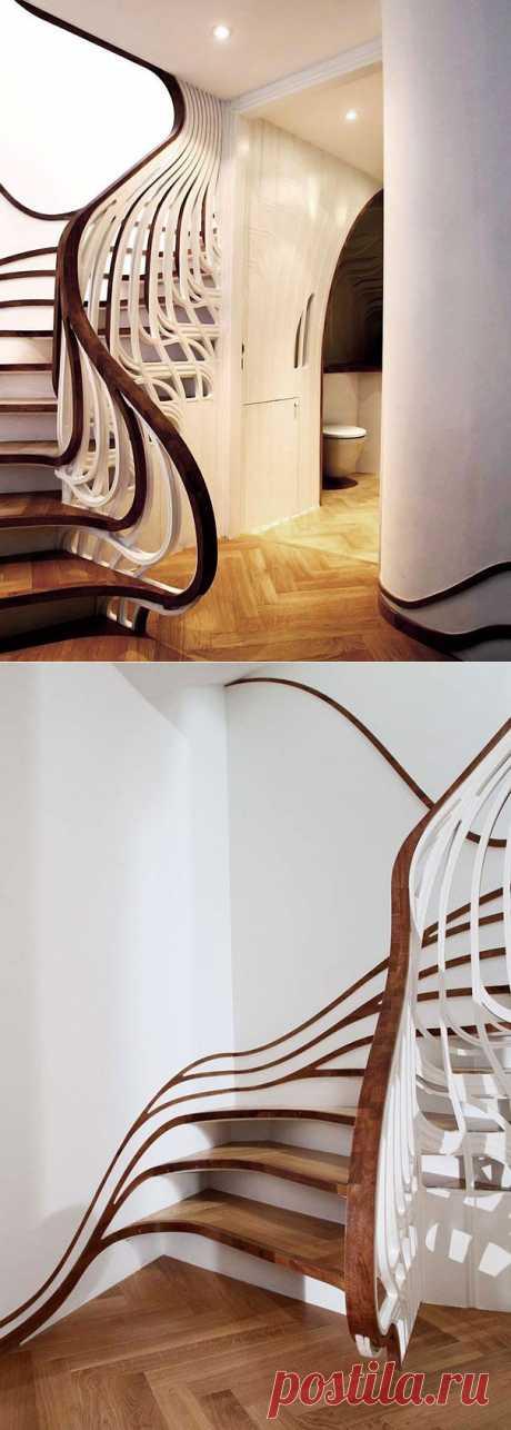 Дизайнерская мысль не дремлет: креативные лестницы | Наш уютный дом