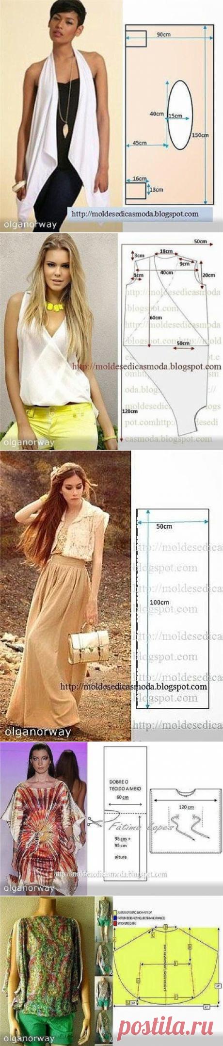 простые выкройки женской одежды