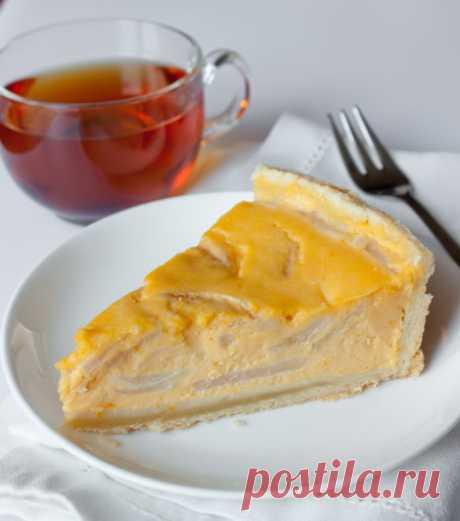Пирог с тыквенно-сливочной начинкой и грушами