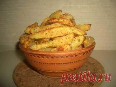 Запеченный картофель в сухарях рецепт с фотографиями