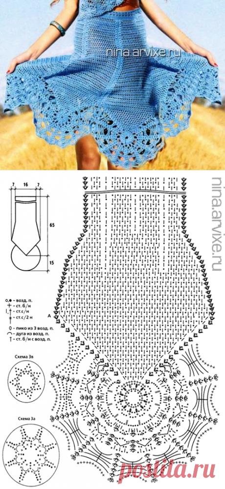 Irish crochet &: Юбка годе