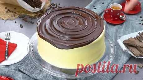 Этот торт хрустит так аппетитно! Готовим хрустящую шоколадную глазурь