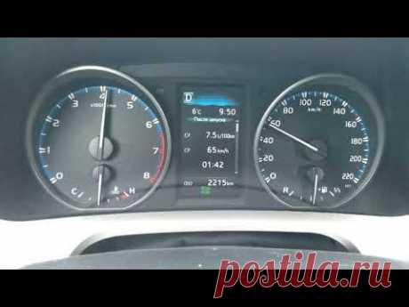 Разгон Toyota Rav4 2.0 0-100 км/ч Speedtest - YouTube