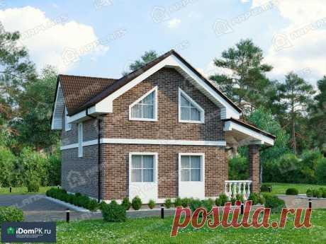 p1941rb – проект дома 9 на 8 с мансардой и 4 спальнями из блоков до 100 кв м