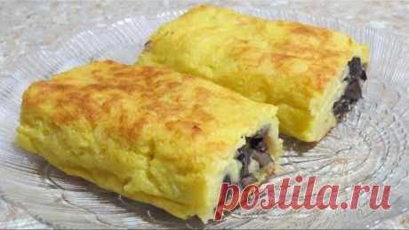 Картофельный рулет с грибами // Potato roll with mushrooms