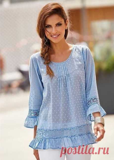 Выкройка летней блузки простого кроя (Шитье и крой) — Журнал Вдохновение Рукодельницы