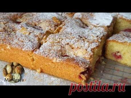 Ягодный пирог Дачный/ Пирог с клубникой/Strawberry Cake - YouTube