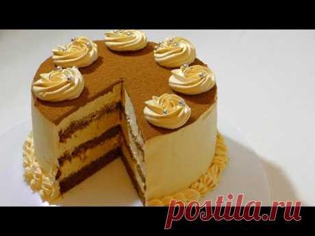КАРАМЕЛЬНЫЙ ТОРТ  оообъеденье . Caramel cake. - YouTube