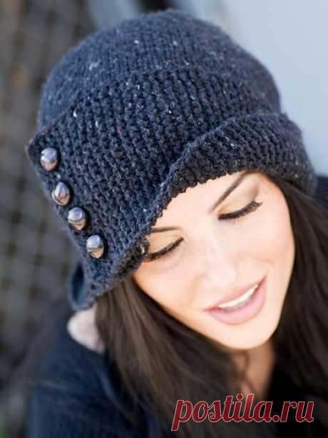 Шляпка Робин (обхват головы 53-55 см, глубина 28 см) (Вязание спицами) | Журнал Вдохновение Рукодельницы