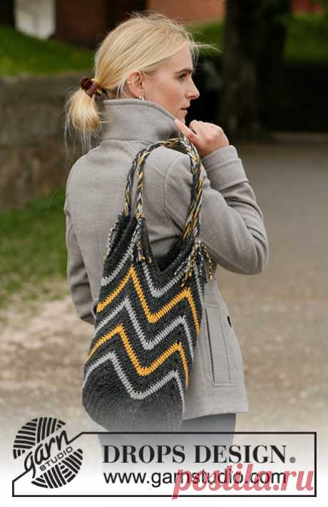 Bee the Best Bag / DROPS 203-11 - Free crochet patterns by DROPS Design