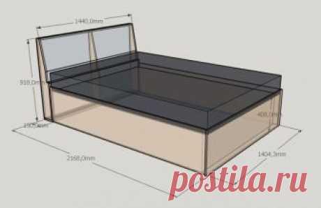 #МебельДляДачи    Кровать своими руками + схема с размерами. Изголовье выполнено в технике каретной стяжки