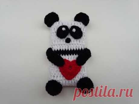 Örgü Telefon Kılıfı Yapımı - Crochet Panda Phone Case - YouTube
